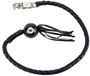 Get Back Whip - Black Leather - 42 Inches Long - With 8 Ball - SKU GBW1-BB-DL