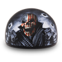 DOT Approved Motorcycle Helmet With Skull and Smoking Guns - SKU D6-G-DH