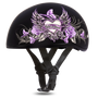 DOT Approved Motorcycle Helmet With Purple Wild At Heart - SKU D6-WH-DH