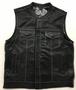 Men's Leather Club Vest with Black Paisley Liner - SKU 6665-00-UN