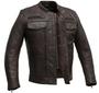 The Raider - Men's Copper Diamond Naked Leather Motorcycle Jacket - Up To Size 5XL - SKU FIM263CVZ-FM