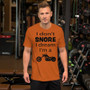 Short-Sleeve Unisex Biker T-Shirt - I Don't Snore I Dream I'm A Motorcycle - Tee
