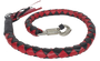 3 Inch Fat - Get Back Whip - Black and Red Leather - SKU GBW6-11-T2-DL