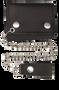 4 inch Black Leather Biker Chain Wallet - Tri-fold - SKU AL3200-AL
