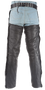 Biker Leather Chaps With Thigh Stretch for Men or Women - SKU GRL-C332-01-DL