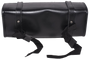 Black and Brown PVC Motorcycle Tool Bag - Fork Bag 10 or 12 Inch - SKU TB3041-DL