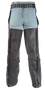 Braided Naked Leather Chaps With Thigh Stretch for Men or Women - SKU GRL-C336-01-DL
