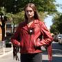Daisy - Women's Western Leather Jacket With Fringe - WBL1503