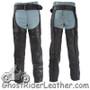 Heavy Duty Motorcycle Leather Chaps With Zipper Pocket for Men or Women - SKU GRL-C3000-01/11-DL
