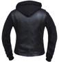 Ladies Lambskin Leather Hoodie Vest Jacket - SKU 6898-00-UN