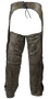 Mens Leather Chaps in Naked Distressed Brown Leather - SKU GRL-C334-12-DL