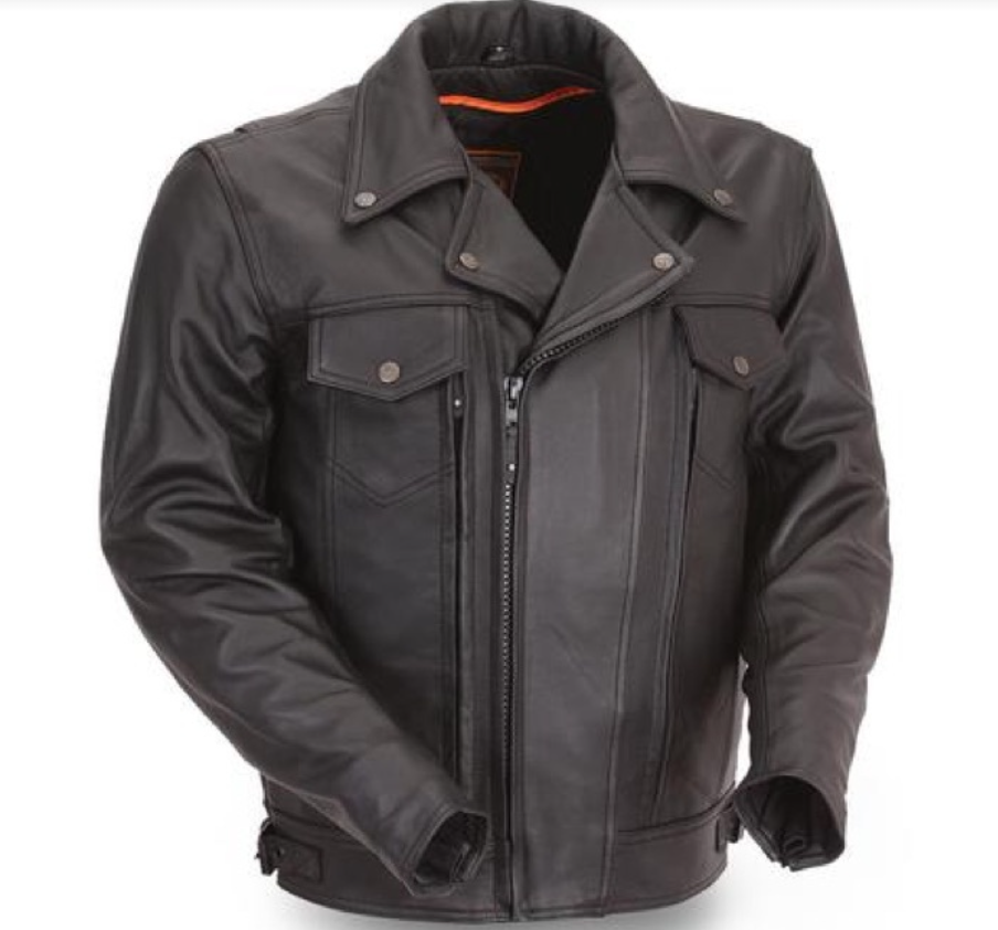 Best Men's Leather Motorcycle Jacket - The Mastermind