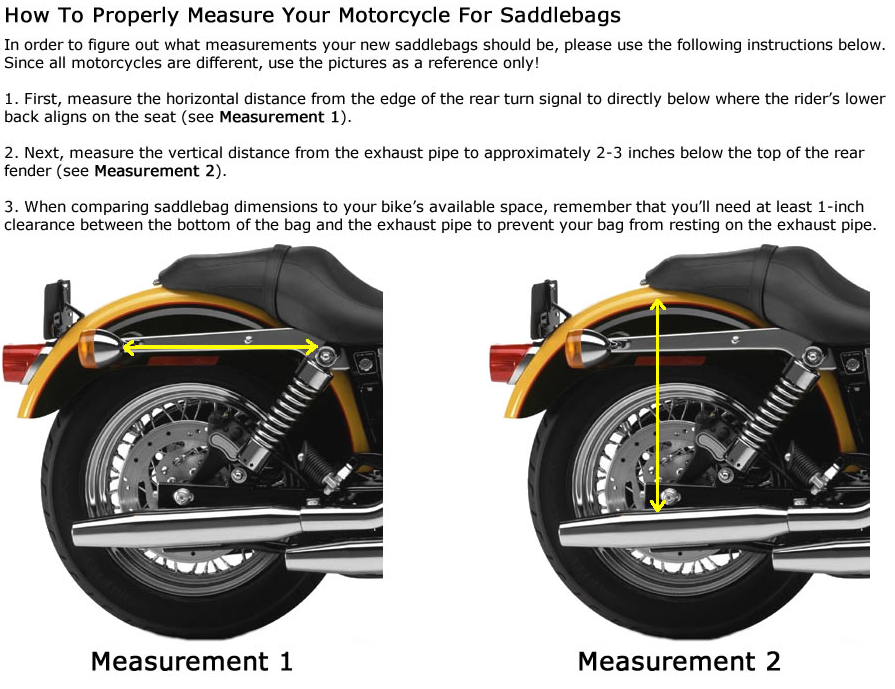 How To Size Your Motorcycle For Saddlebags