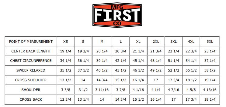 Size Chart for Ludlow - Canvas - Women's Textile Club Style Motorcycle Vest - SKU GRL-FIL516CNVS-FM