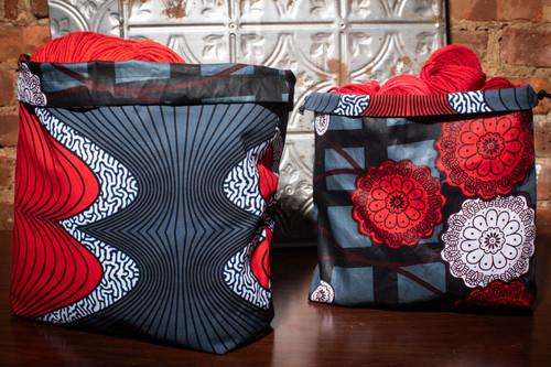 Sound Waves Drawstring Bag