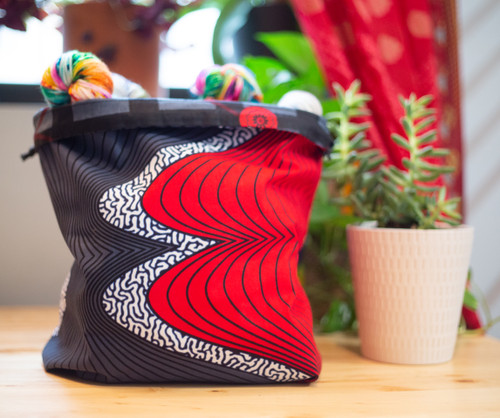 Sound Waves Drawstring Bag