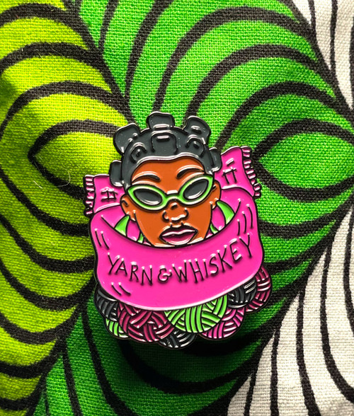 yarn&whiskey Woman Pin