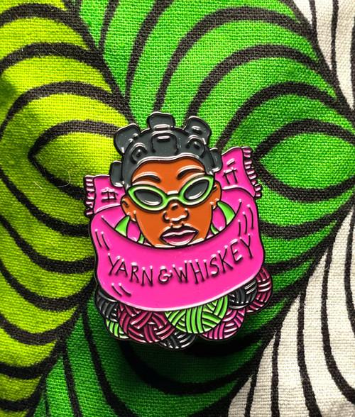 yarn&whiskey Woman Pin