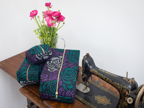 Dark Rose - Pop up Pouch