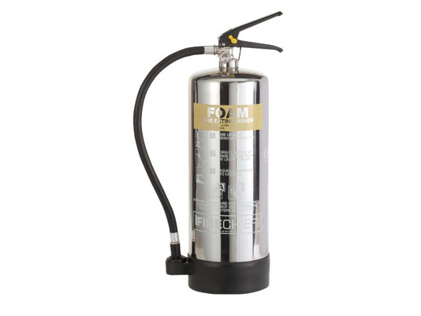 Firechief ELITE 6 litre Stainless Steel Foam Extinguisher