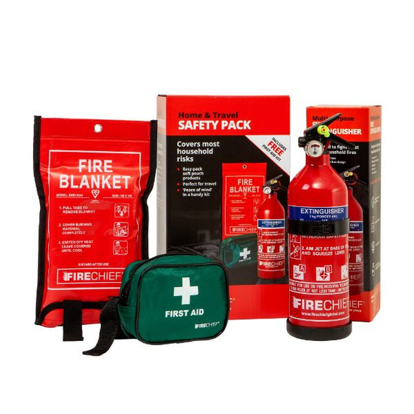 Firechief Home & Travel Safety Pack including FAP1, SVB1 and FKP1