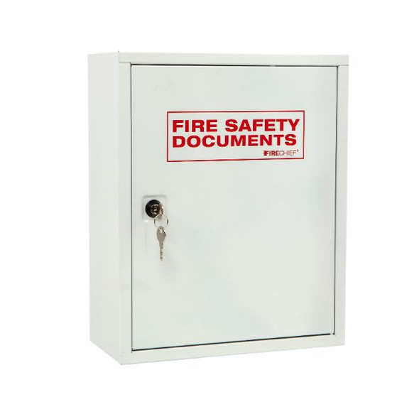 White document cabinet with key lock