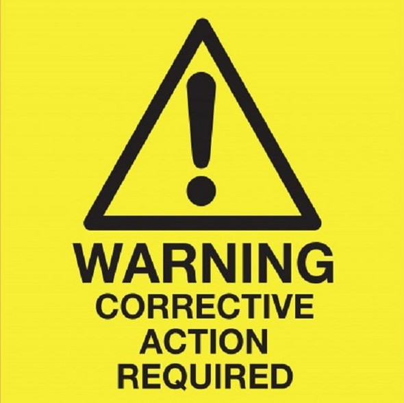 Corrective Action Label- quantity of 10000