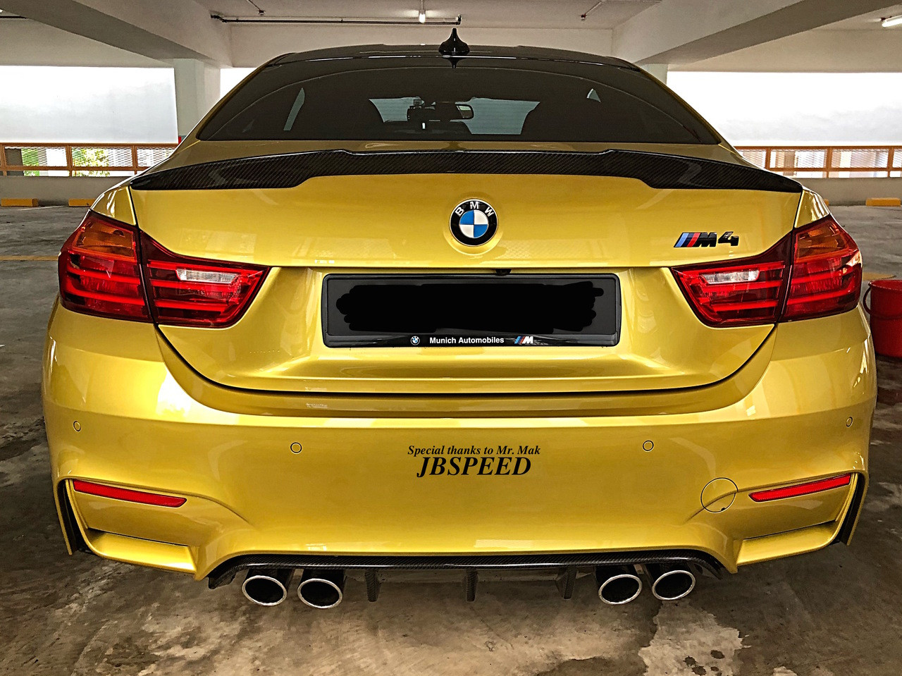 Bmw Carbon Fiber Performance Spoiler For F82 M4 Free Shipping