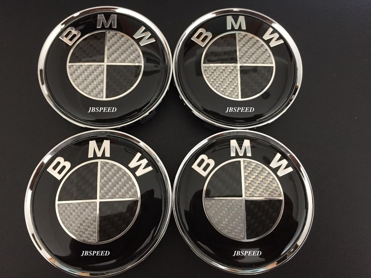 Bmw Real Carbon Fiber Wheel Caps With Chrome Ring Replacement 68 Mm Oem Quality Jbspeed