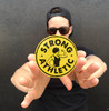 Yellow with Black Ink Strong Athletic Logo Sticker