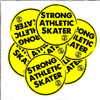 Wanna take Strong Athletic with you everywhere you go? Well, now you can with our bright yellow Strong Athletic Skater stickers. Let the world know that you part of the always growing skating community. Put these stickers about skating on your water bottle, your mirror, your refrigerator, the window on the back of your car, your friends car....
