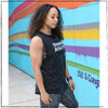 Are you a nerd and you want the perfect shirt that shows how nerdy you are? This is the Strong Athletic Nerd Flowy Muscle Tank  in a black marble with white ink screen printed by hand. This design is printed on a super soft Bella Canvas tank. Bella Canvas is a WARP company.