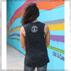 Are you a nerd who is fit and strong and athletic? This is the Strong Athletic Nerd Flowy Muscle Tank  in a black marble with white ink screen printed by hand. This design is printed on a super soft Bella Canvas tank. Bella Canvas is a WARP company.