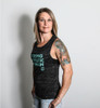 This is the side view of a Strong Athletic muscle tank. You will see that the arm holes are cut to be a bit lower than a traditional tank top, showing off a bit more skin or your bra than the average tank. This is by far the most popular tank design that we carry. #strongathletic , #strongathletichuman , #stronghuman
