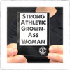 Wanna carry the Strong Athletic Grown-Ass Woman message around with you regardless of if you have your shirt on or not? Sweet! You have the option to add on stickers at a discounted price when you buy both the shirt and the sticker! #strongathletic , #strongathleticgrownasswoman , #grownasswoman , #womeninsport , #strongwoman , #strongwomen