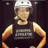 This is  Killanois from Windy City in Chicago, the person who asked Strong Athletic to create the Strong Athletic Chronically Ill Design. This is the front of the Strong Athletic Chronically Ill black muscle tank with white ink that we created for all of the athletes living with chronic illness.  A portion of every shirt sold has been pre-donated to the National MS Society.