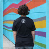 This is the back of the Strong Athletic Chronically Ill All-Gender T-Shirt. This shirt is super soft and the fabric is durable, so it'll stay comfy for ages. We print this design on Bella Canvas 3001CVC. A portion of every shirt sold has been pre-donated to the National MS Society.