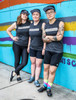 This a photo of members of the very bad-ass Pedazzlers, a group of cyclist based in Austin, Texas who raise money every year for the Hill Country AIDS Ride.
