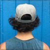 Are you a hat snob that is looking for merch that will tell the world that you're gay? This hat is for you. This is the back view of the Strong Athletic Queer Heather Grey  snapback hat with black letters.  We support the LGBTQIA2S+ community and $1 from each of these hats is donated to Pull for Pride!