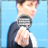 This is the Strong Athletic Jammer sticker. This is one of the 4 stickers you will receive in your 4-Pack. This sticker is for all the jammers in the sport of roller derby. Jamming is a hard job. Jammers might get the spot light, but they have to work for it. When it comes down to it, there are 4 blockers against 1 person. The odds are against them, but still they prevail. Jammers must be strong and athletic and determined to hold their own on the track. Strong Athletic knows that and we salute every jammer who ever puts on the star and goes and gets the job done. #strongathleticjammer , #rollerderby , #strongathletic , #strongathleticskater