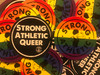 "We think these two stickers make a perfect pair! The Strong Athletic Queer sticker compliments the Strong Athletic Rainbow Sticker.  We know it's a privilege and also a human right, and for those of us who can be ""out"" let's do it for everyone else who is unable to be.  Be out and proud!"