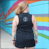 """This is the Strong Athletic Dork Flowy Muscle Tank. This design is printed on the Bella Canvas Flowy Muscle Tank, Style Number 8300. The fabric is a speckled black fabric that is marble black, the ink is bright white. This shirt is preshrunk and high quality so it will last you for years. It's assembled in a WARP Certified facility. What does it mean to be a dork? Dorks are not always geeky or nerdy. To be a dork, doesn't necessarily mean that you're """"book smart"""" but it also doesn't rule it out."""