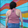 This is the Strong Athletic Grown-Ass Woman Crop Top Racerback Tank Top. The fabric of this crop tee-shirt is a mauve pink that has a rosy tone to it, the ink of the artwork is black. This makes for the perfect top ten gift for your feminist best friend. This tank is by far one of our most popular designs, it will turn heads where ever you wear it. We print this design on the Bella Canvas 6682 Crop Top Racerback Tank. All Bella shirts are made at a W.A.R.P. Certified facility. Welcome to Strong Athletic.