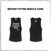This is the Strong Athletic Mom District Fitted Muscle Tank in Solid Black with White Ink. The sizes range from X-Small to 4X-Large for this muscle tank. This is one of our favorite styles of tank tops with the dropped arm holes and the muscle-style look. We love that the strong moms who wear this shirt make a statement every time they put it on. They are stating that being a mom is important but being strong and athletic is also important. The powerful message spreads to others and they see the truth of these words in theirselves. Strong Athletic is owned and operated by queer women and our founder is a mom, so when you buy from us, you're supporting other women and moms.