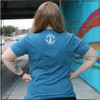 This is the back view of the Strong Athletic Grandma All-Gender T-shirt in Heather Teal with White Ink. #Strongathleticgrandma , #strongathleticgrandmother , #strongathleticmom , #grandma #stronggrandma, #stronglikegrandma , #strongathleticwoman , #ilovemygrandma , #strongathletic , #womanownedocompany , #womeninsports