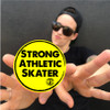 Add a sticker on to your order with this Strong Athletic Skater Sticker!
