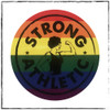 This is one of the stickers you will get in your 4-pack. This is our Pride Sticker, with a combination of the original Strong Athletic Strong Woman Logo and the colors of the rainbow that symbolize our proud and strong community.  This sticker is 3 x 3 inches. Strong Athletic is an LGBTQIA company and we support all LGBT+ athletes in sports. Period. #strongathletic , #strongathleticqueer , #strongathletictrans , #webelieve , #gayathletes , #queerathlete , #gayathlete , #queerathletes , #pride , #lgbtqia2s+ #lgbtqia , #lgbtq