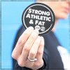 Want to take your favorite Strong Athletic shirt with you everywhere, but somedays it's laundry day? Great news! You can add a few Strong Athletic & Fat stickers to your order and carry these three empowering words with you where ever you go! #strongathletic , #strongathleticandfat , #strongathleticfat , #fatathlete