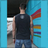 This is the Strong Athletic Queer Crew Neck Gray Muscle Tank with White Ink. The fabric for this gray muscle tank covers all of the back. This LGBT Pride tank makes the perfect gift for the gay, queer, trans, lesbian, bisexual or nonbinary athlete in your life.