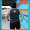 This is the Strong Athletic Queer Crew Neck Gray Muscle Tank with White Ink. The fabric for this gray muscle tank covers all of the back. This tank is perfect going to the gym. This tank is perfect for lifting heavy in. This tank is perfect for rowing in. You get the idea, this tank is your perfect LGBT pride tank that you can wear anywhere.